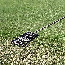 WSVULLD Golf tuin gras, roestvrijstalen grondplaat met 43 inch handvat, niveau bodem of vuil grondoppervlakken gemakkelijk...