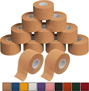 ALPIDEX 12 x Cinta Adhesiva Deportiva 3,8 cm x 10 m Sport Tape, Color:de Color Carne
