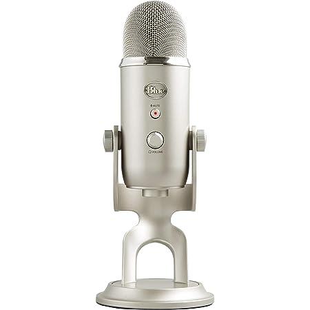 Blue Microphones Yeti - Micrófono USB para grabación y transmisión en PC y Mac, transmisión de juegos, llamadas de Skype, transmisión de Youtube, Plug and Play, color Platino