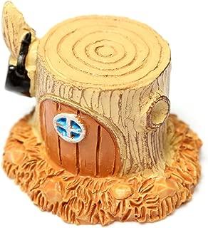 Figurines & Miniatures - Sz Miniature Stump House Dollhouse Garden Fairy Ornament Pot Plant Craft Home Decor Yellow - Rain Boots Sets Lemon Vases Cases Bottles Towels Cushions Balls Hand Trap Co