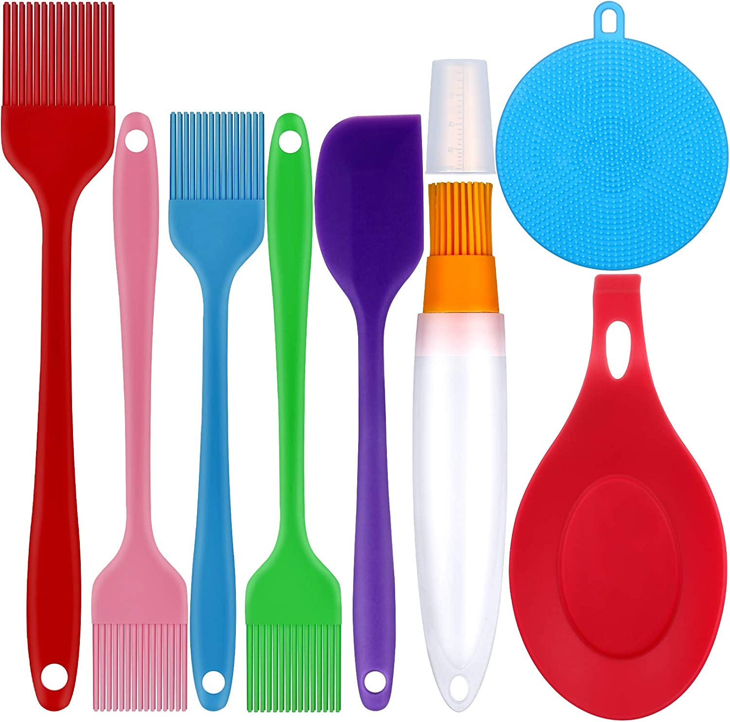 Remagr 8 Pieces Silicone Pastry Nippon regular agency Brush Cap with Kansas City Mall Bottle Set