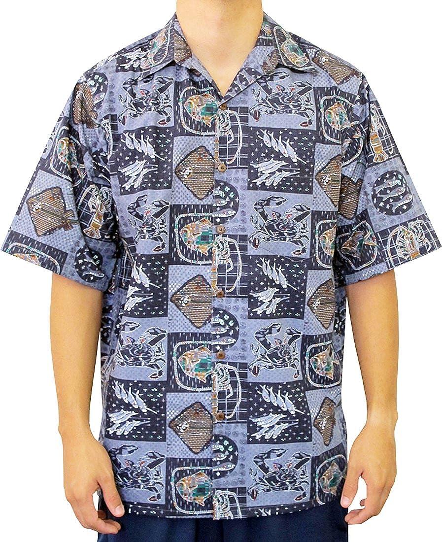 Go Barefoot Mens Hawaii Kai Ocean Peached Cotton Shirt