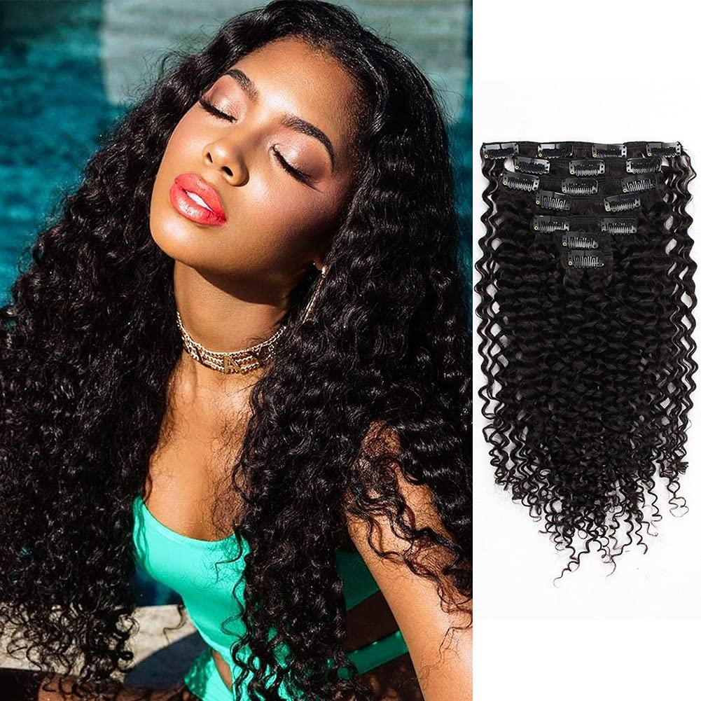 ABH AMAZINGBEAUTY HAIR Brand new Afro Jerry Curly Hair 3B Clip 3C In New item