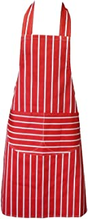 Clay Roberts Chefs Cooking Apron, Red, Kitchen Bib Apron for Men and Women with Double Pockets