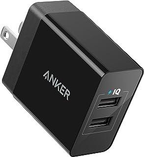 Anker 12W 2ポート USB急速充電器 iPhone / iPad / MacBook / Android 各種対応 【PSE認証済 / PowerIQ & VoltageBoost 折畳式プラグ搭載】 (ブラック)