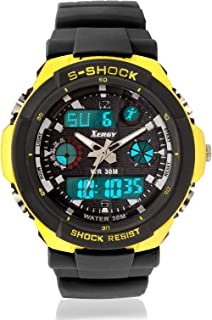 Xergy Boys Analogue Digital Multicolour Dial Water Resistant, Alarm, Stopwatch, LED Light, Dual Time Sports Men's Watch