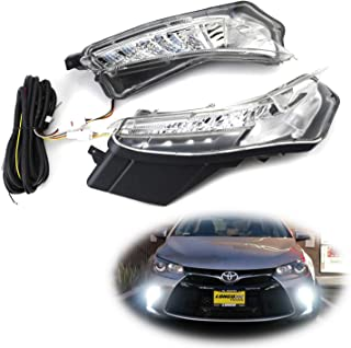 iJDMTOY OEM-Spec LED Daytime Running Lights/Turn Signal For 2015-2017 Toyota Camry LE SE or Special Edition (Switchback White LED DRL, Amber LED Blinker Lamp)