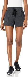 Amazon Essentials Brushed Tech - Pantalones cortos elásticos para mujer