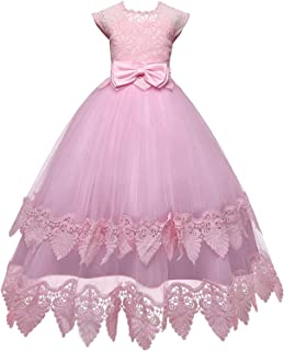 Surprise S Summer White Lace Formal Dress Embroidery Flower Kids Evening Teen Princess Anniversary Child Dress