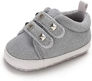 Tutoo Unisex Baby Boys Girls Soft Anti-Slip Sole Sneakers Newborn Infant First Walkers Canvas Denim Shoes