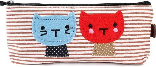 NOV@GO® Trousse à crayons chat marine (couleurs disponibles: rouge ou bleu) (rouge marine)