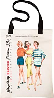 Simplicity Vintage Fashion 1950's ''Sun or Fun'' Shoulder Tote Bag, 12.75'' x 16''