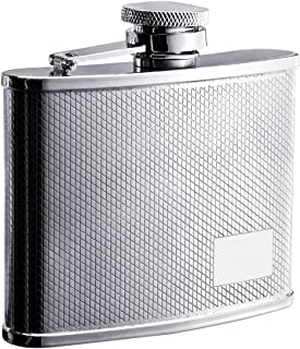 "Visol""Sparkle"" Stainless Steel Hip Flask, Diamond Pattern, 4-Ounce, Chrome"