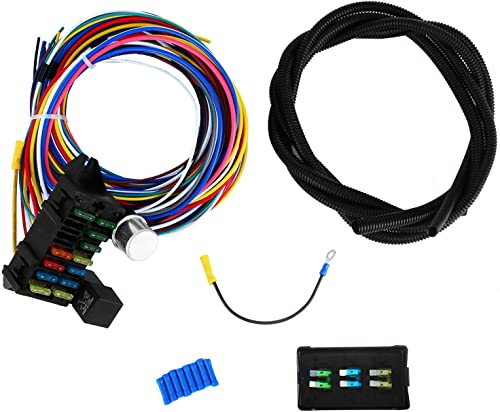 high quality Mophorn 12 Circuit Wiring Harness 12 Fuses Universal Street Rod online Harness Muscle Car Hot Rod new arrival Street Rod online sale