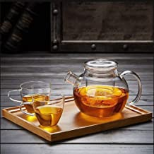 HJW Nuttige waterkoker glazen zeepbel theepot filter hittebestendig huishouden grote capaciteit theepot thee set glazen th...