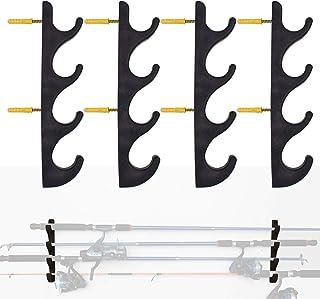 YYST Horizontal Fishing Rod Storage Rack Holder Wall Mount to Hold 8 Fishing Rods W Screws - No Fishing Rod