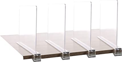 4PCS Multifunction Acrylic Shelf Dividers,Closets Shelf and Closet Separator for Wood Closet,Only Need to Slide to Adjust ...