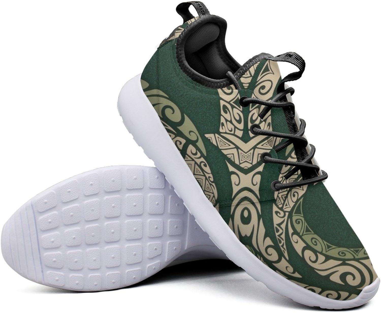 Green Tribal Print Women's Hunting Sneaker Lightweight Mesh Running shoes