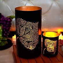 Hashcart Traditional Leaf Tea Light Candle Holder/Metal Candle Light Holder Set/Table Decorative Candle Holders, Tea Light...