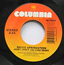 BRUCE SPRINGSTEEN 45 RPM JANEY, DON''T YOU LOSE HEART / I''M GOIN'' DOWN