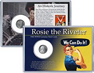 Coins of America Rosie The Riveter 1943 WWII Steel Cent