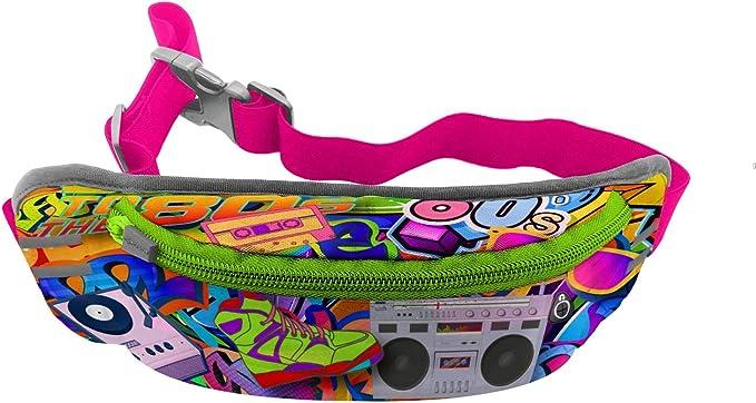 90s Purple Fanny Pack RYKA Puffy Nylon Hip Sack Bum Bag Vintage Travel Bag 1990s