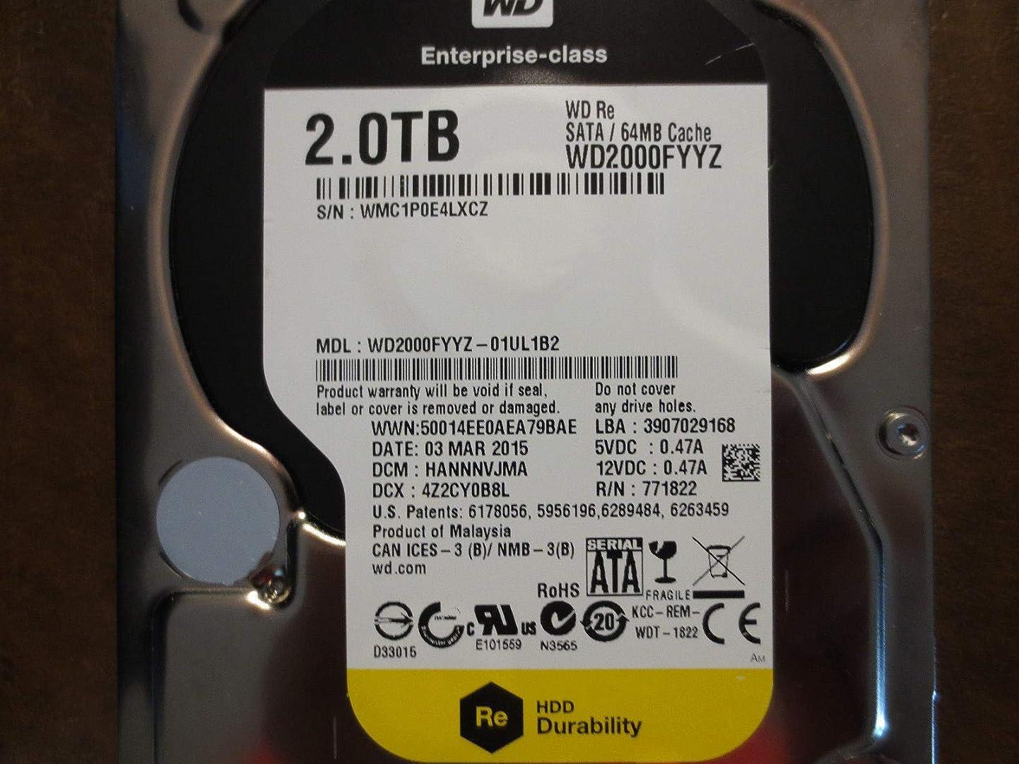 Western Digital HDD WD2000FYYZ Enterprise 2TB SATA 6Gb/s 7200rpm 64MB Cache Bare Drive Drive (WD2000FYYZ) zxvksbxdiea4