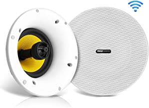 "WiFi Bluetooth Ceiling Mount Speakers – 5.25"" in-Wall/in-Ceiling Dual Active.."
