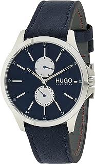 Hugo Boss Men's Blue Dial Blue Leather Watch - 1530121