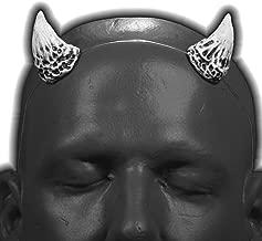 self locking clear headband Wicked v1 Bright White /& Black Devil Horns w// adjustable