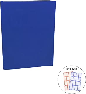 Dark Blue Stretchable Jumbo Book Covers, Washable Durable Reusable Book Protector fits Hardcover Textbooks up to 9.5