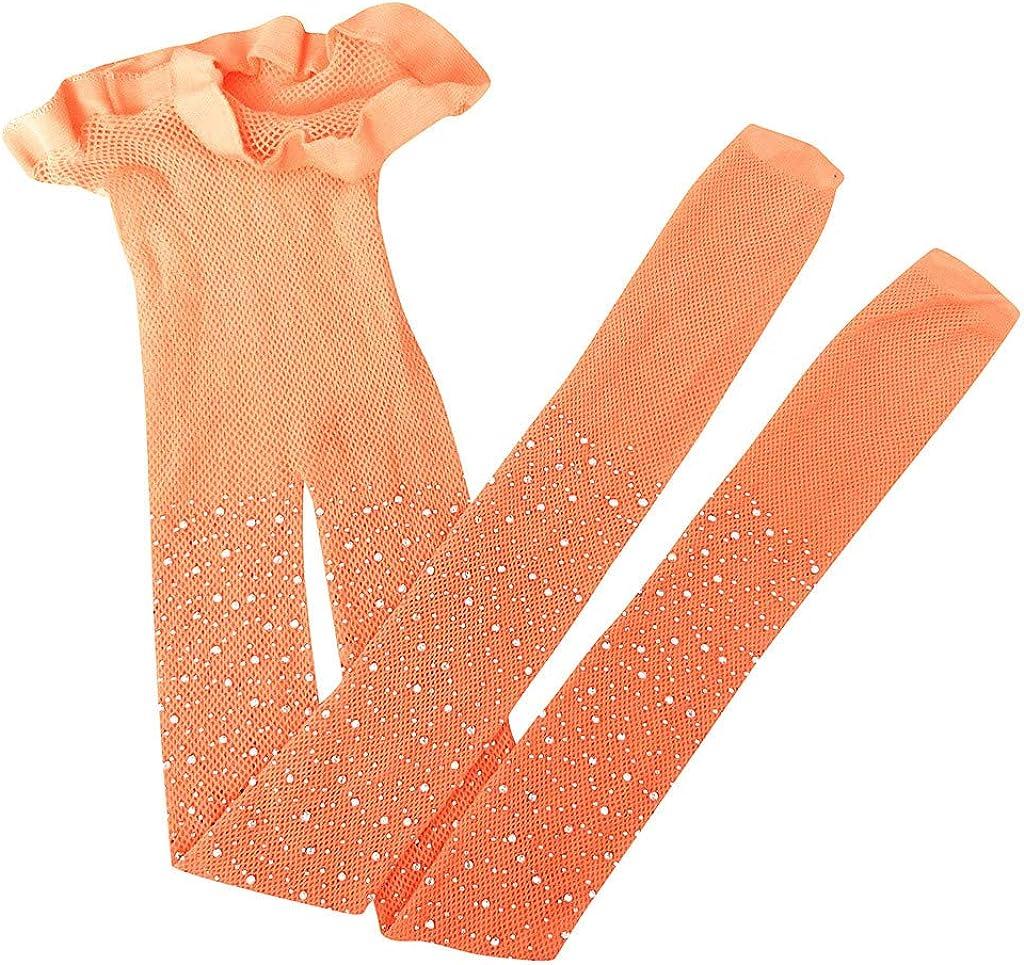 QUNANEN Kids Girls Mesh Fishnet Stocking Pantyhose Flash Tights Lightning Silk Stockings