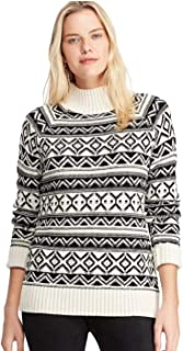 Chaps Womens Textured Mockneck Sweater Black