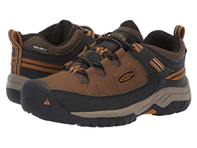 KEEN Kids Targhee Low WP (Little Kid/Big Kid) (Dark Earth/Golden Brown) Boy
