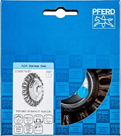 PFERD Kegelbürste Kegelbürste Kegelbürste mit Gewinde, gezopft POS KBG 11515 M14 CT INOX 0,35 B07N2Y1P15 | Verwendet in der Haltbarkeit  288033