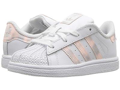 adidas Originals Kids Superstar Iridescent I (Infant/Toddler) (White/Iridescent) Girls Shoes