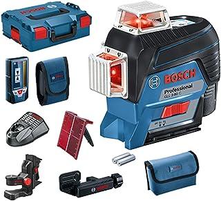 Bosch Professional Measurement GLL 3-80 C - Nivel láser (conexión Bluetooth, soporte, receptor, 1 batería 2 Ah, 12 V, alcance hasta 30m, en L-BOXX)