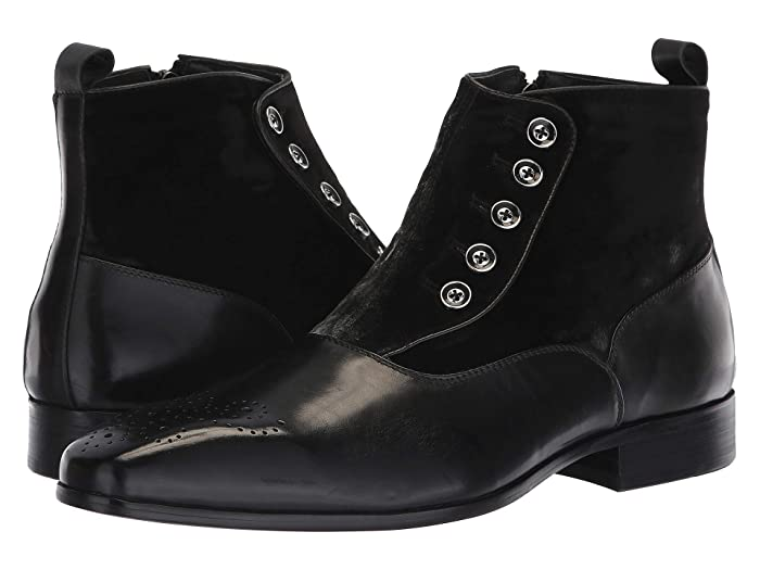 Steampunk Boots and Shoes for Men Carrucci Jack Spat Black Mens Shoes $125.00 AT vintagedancer.com