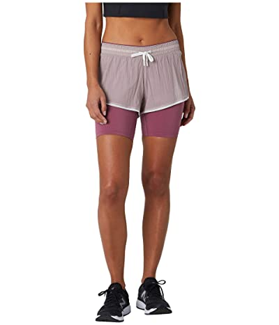New Balance Q Speed Breathe 2-in-1 Shorts (Logwood) Women