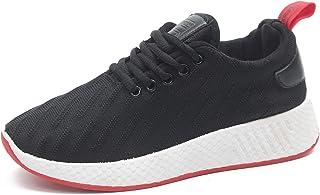 [NYAME] スポーツシューズ エアクッション付き 厚底 美脚 スニーカー ウォーキングシューズ ランニング 靴 抗菌防臭 耐摩耗ソール 軽量 レースアップ