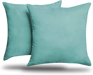ALEXANDRA'S SECRET HOME COLLECTION 2-Pack Solid Faux Suede Decorative Throw Pillow Cover/Sham (18