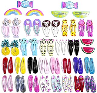 60 Pcs Hair Clips for Toddler Girls, Non-slip Hair Barrettes Metal Print Hairpins Hair Styling Accessories for Kids Teens