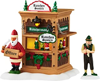 Department 56 Alpine Village Christmas Market Holiday Smoker Booth Accessory, 4.49