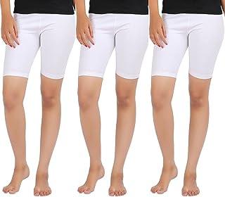 Rooliums Women'S White Shorts(Rooliumsshorts-C3-4_White_Free Size)