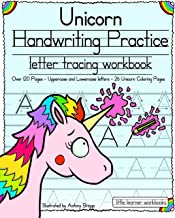Unicorn Handwriting Practice: Letter Tracing Workbook: 1 (
