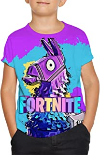 Youth Fortnite T Shirt 3D Printed Game Short Sleeve Tee Fashion Tops for Boys Girls XX-Large