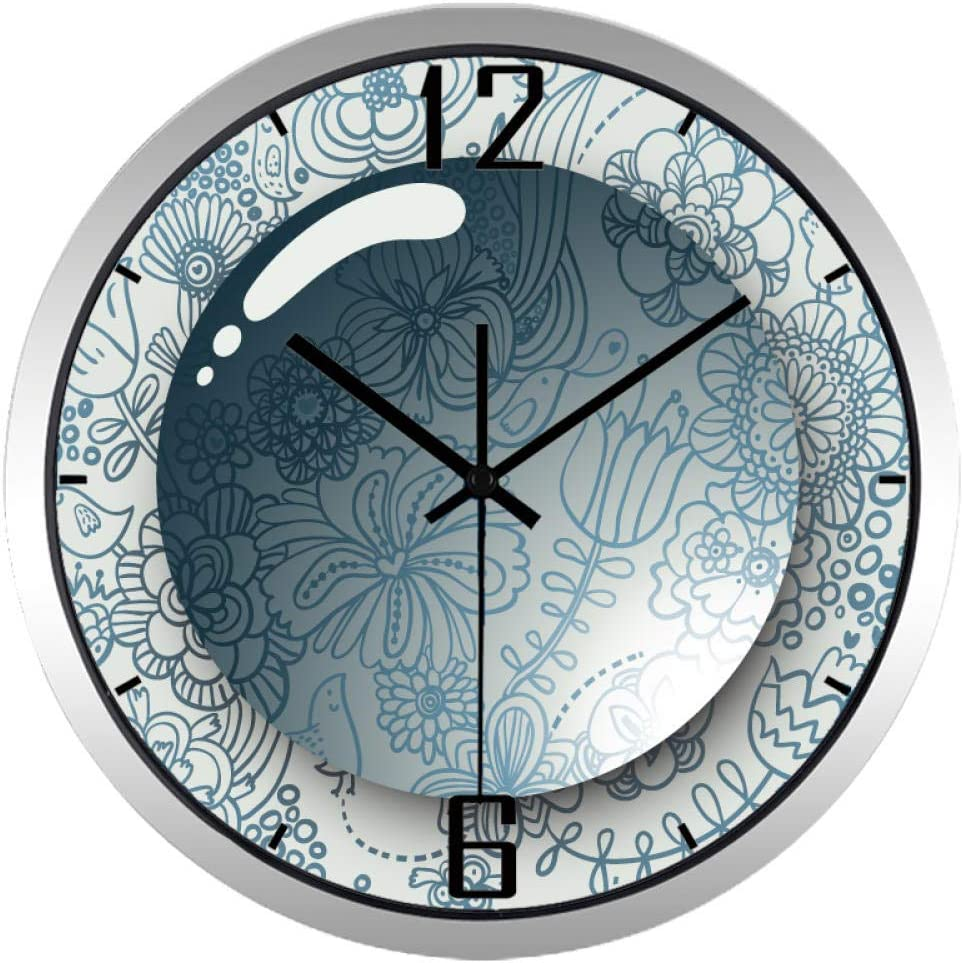 Patrón Direct store Outlet ☆ Free Shipping Reloj de Pared 3D Water for Wall Drop Flower Clock Living