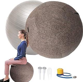 POIUYT Palla per Lo Pilates 55 Cm Palla da Seduta Ufficio con Presa dAria E Maniglia Stabilit/à E Forma Fisica per Ufficio Dormitorio e Casa