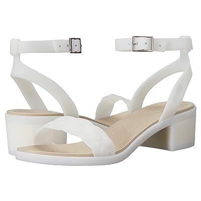 Crocs Isabella Block Heel (Oyster) Women