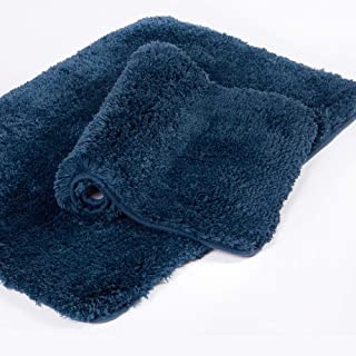 Walensee Bath Rug Super Soft Shag Shower Mat Non Slip Bath Mat Microfiber Water Absorbent Machine Washable Bathroom Rug an...
